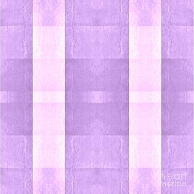 Digital Art - Pastel Pink And Purple Plaid by Rachel Hannah