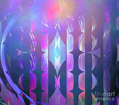 Digital Art - Pastel Pink Reeds by Kim Sy Ok
