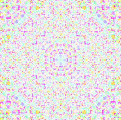 Kaleidoscope Digital Art - Pastel Pop by Robyn Parker