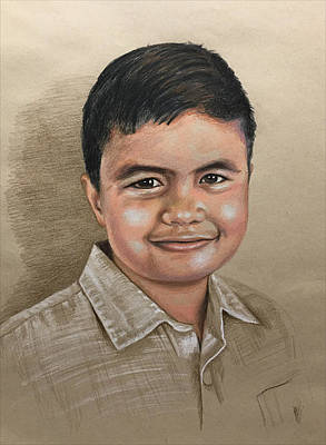 Drawing - Pastel Portrait Of Boy by Robert Korhonen