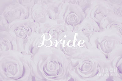 Pastel Purple Bride Art Print