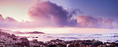 Panorama Wall Art - Photograph - Pastel Purple Seashore by Jorgo Photography - Wall Art Gallery