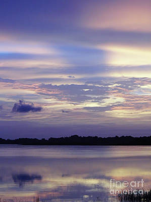 Photograph - Pastel Reflections On The Lake  by D Hackett