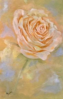 Painting - Pastel Rose by Anne Barberi