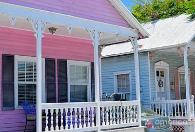 Photograph - Pastel Row In Key West Florida by Janette Boyd