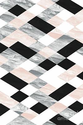 Pastel Scheme Geometry Art Print