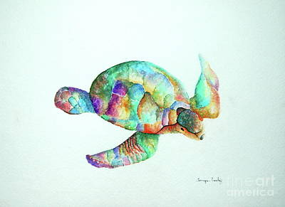 Painting - Pastel Sea Turtle by Tamyra Crossley