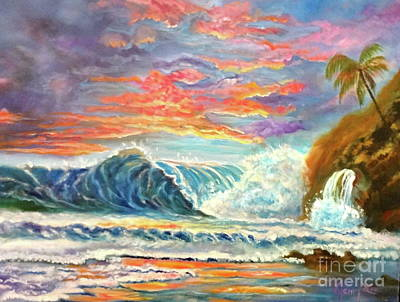 Painting - Pastel Seascape 11 by Jenny Lee