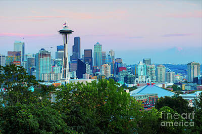 Photograph - Pastel Seattle by Mike Dawson