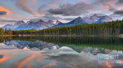 Photograph - Pastel Skies Over Herbert Lake by Adam Jewell