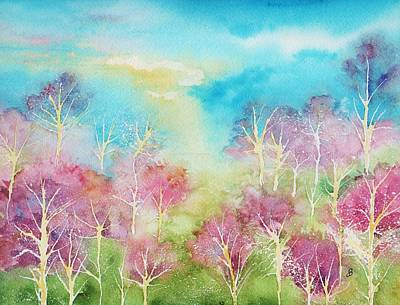 Maine Landscapes Painting - Pastel Spring by Brenda Owen