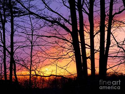 Photograph - Pastel Stained Glass Sunset by Jean Wright