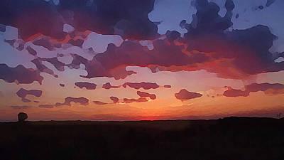 Digital Art - Pastel Summer Sunrise by Shelli Fitzpatrick