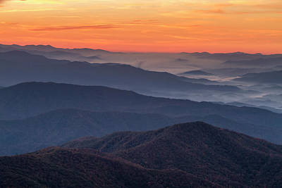Photograph - Pastel Sunrise In The Smokies by Teri Virbickis