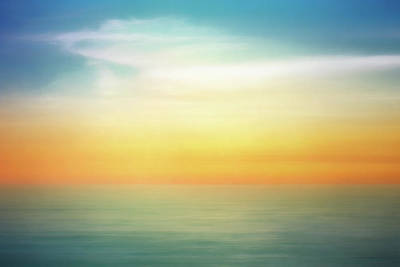Abstract Stripe Patterns - Pastel Sunrise by Scott Norris