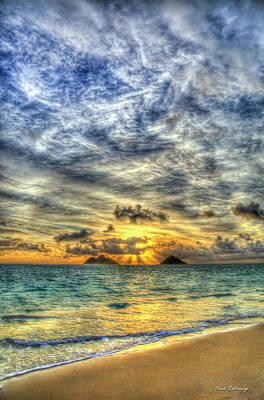 Photograph - Pastel Sunrise Stairways To Heaven Lanikai Beach Oahu Hawaii Collection Art by Reid Callaway