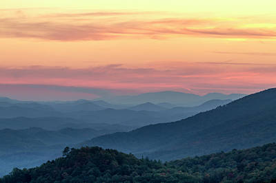 Photograph - Pastel Sunset In The Smokies by Teri Virbickis