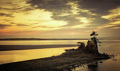 Photograph - Pastel Sunset On Siletz Bay by Don Schwartz