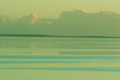 Photograph - Pastel Sunset Sea Green by Tony Brown