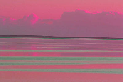 Photograph - Pastel Sunset Sea Pink by Tony Brown
