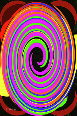 Digital Art - Pastel Twirl Abstract by Tom Janca