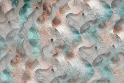 Mixed Media - Pastel Waves by Marina Shkolnik