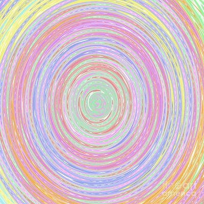 Digital Art - Pastel Whirlpool by Susan Stevenson