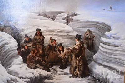Biard Painting - Pastor Laestadius Preaching To The Sami by MotionAge Designs