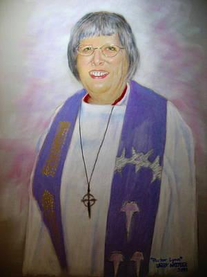 Pastor Lynn Art Print by Larry Whitler