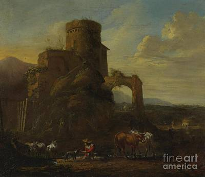 Kingdom Painting - Pastoral Landscape With Ruins by MotionAge Designs