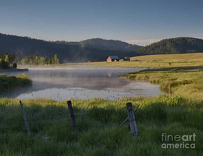 Photograph - Pastoral Mists by Idaho Scenic Images Linda Lantzy