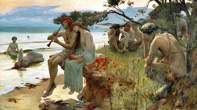 Photograph - Pastoral by Rupert Bunny