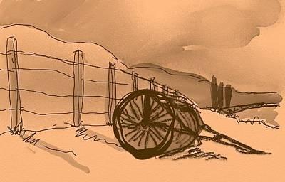 Digital Art - Pastoral Sketch by Brett Shand