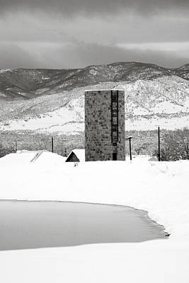 Brick Silos Photograph - Pastoral Winter by Marilyn Hunt