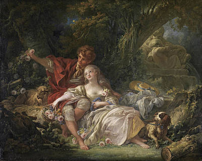 Sheep Painting - Pastorale by Francois Boucher