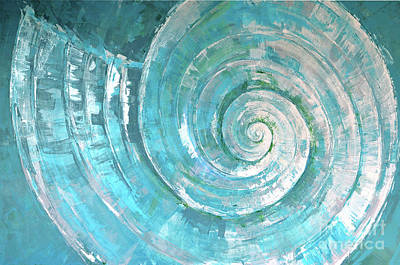 Interference Painting - Pastorek Shell by Paola Correa de Albury