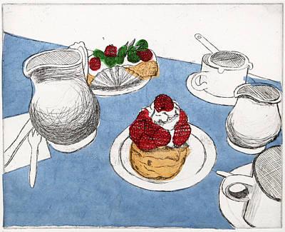 Raspberry Mixed Media - Pastries by Michelle Fattibene