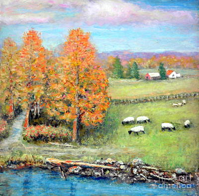 Painting - Pasture Happy by Al Hunter