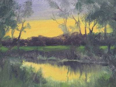 Painting - Pasture Pond by David Rodman Johnson
