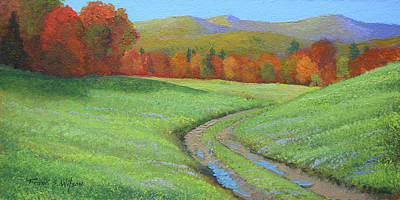 Painting -  Pasture Road by Frank Wilson
