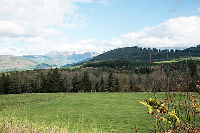 Photograph - Pastures And Cloudy Hills by Tom Cochran