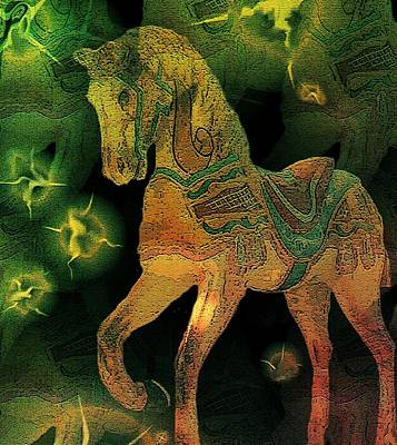 Freedom Mixed Media - Pastures New by Susan  Epps Oliver