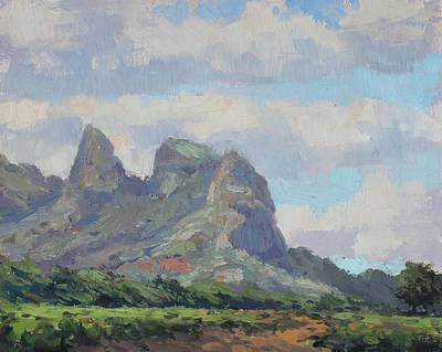 Hawaii Painting - Pastures Of Anahola by Pierre Bouret