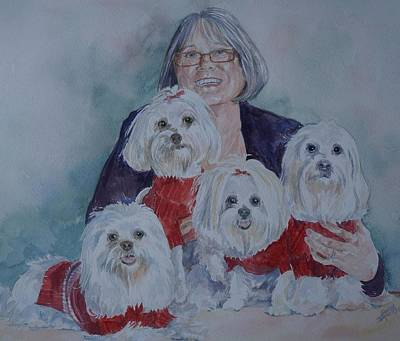 Painting - Pat And Her Babies by Gloria Turner