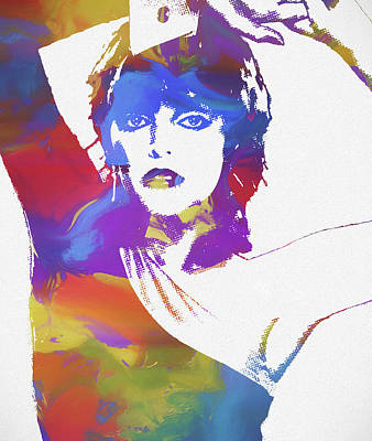 Music Paintings - Pat Benatar Color Splatter by Dan Sproul