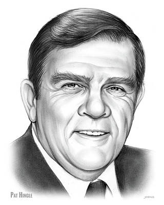 Drawing - Pat Hingle by Greg Joens