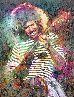Jazz Mixed Media Royalty Free Images - Pat Metheny Royalty-Free Image by Mal Bray