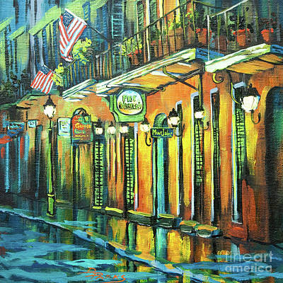 New Orleans Oil Painting - Pat O Briens by Dianne Parks