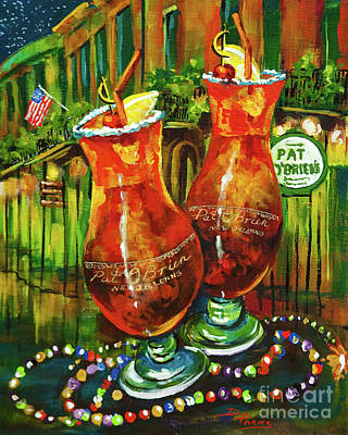 French Quarter Painting - Pat O' Brien's Hurricanes by Dianne Parks