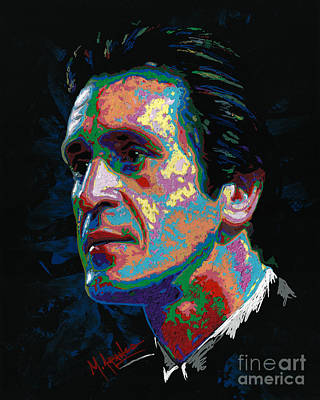 Painting - Pat Riley by Maria Arango
